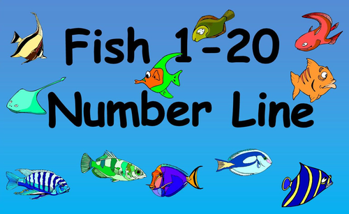 Number line 1 to 20 clipart clip freeuse library Fish 1-20 Number Line by bestprimaryteachingresources - Teaching ... clip freeuse library