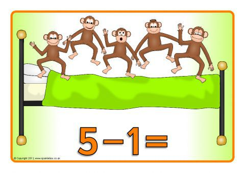 Number sentence clipart svg free stock Five Little Monkeys Jumping On The Bed Number Sentence ... svg free stock
