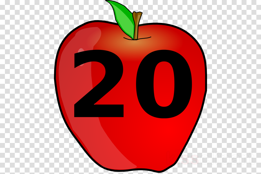 Number twenty clipart clipart library library Download twenty clipart Apple Number Clip art clipart library library