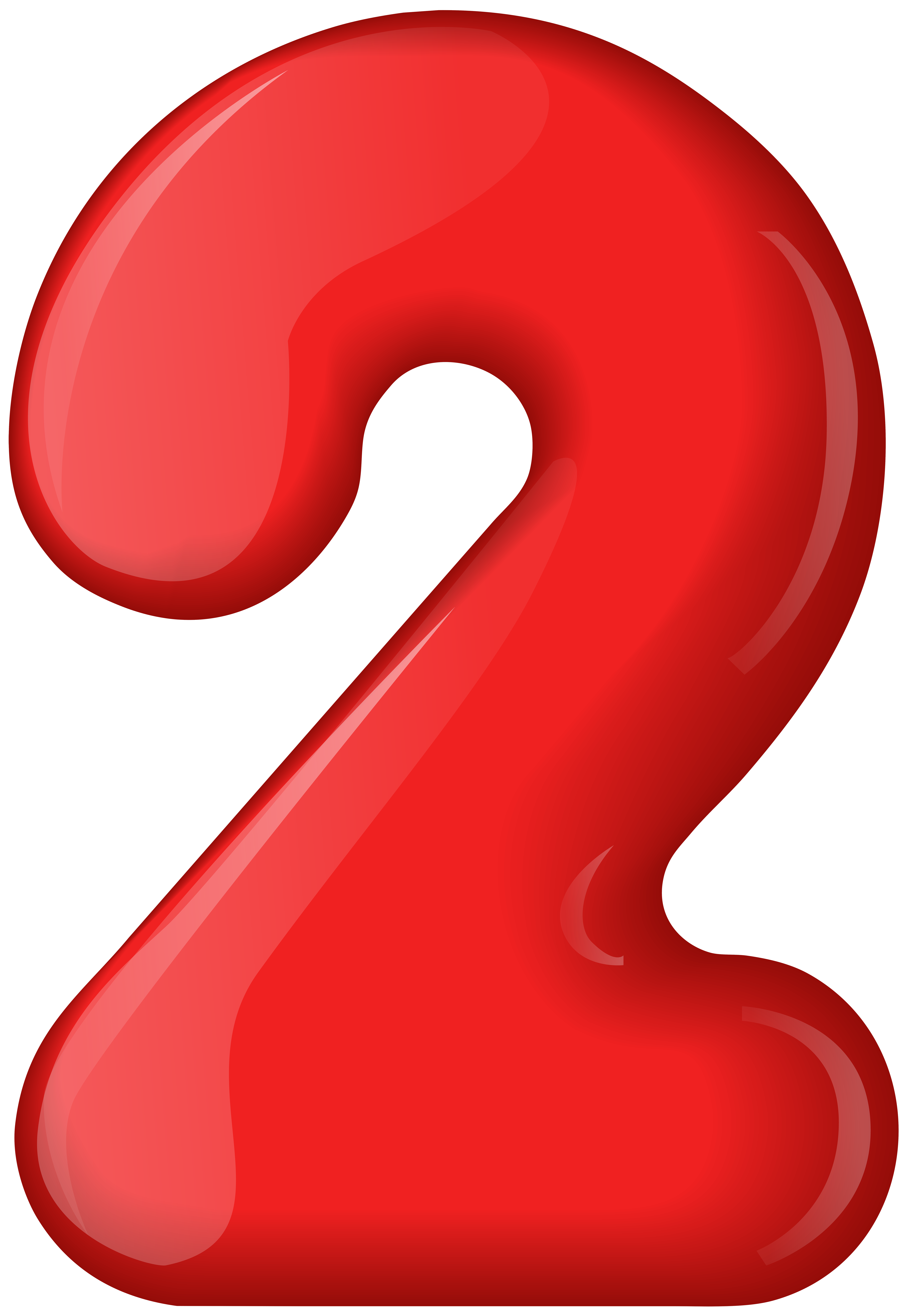 Transparent numbers clipart royalty free library Red Number Two Transparent PNG Clip Art | Gallery ... royalty free library