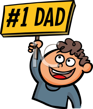 Number1 dad clipart clip royalty free iCLIPART - Boy Holding a Number One Dad Sign Cartoon | Dad ... clip royalty free