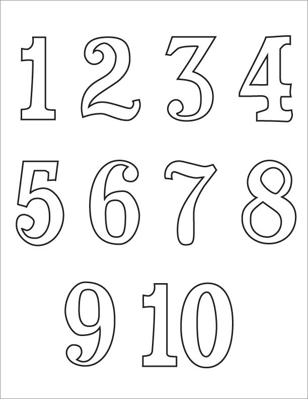 Numbers 1 10 clipart black and white clipart download Black And White Numbers 1-10 Clipart - Clipart Kid clipart download