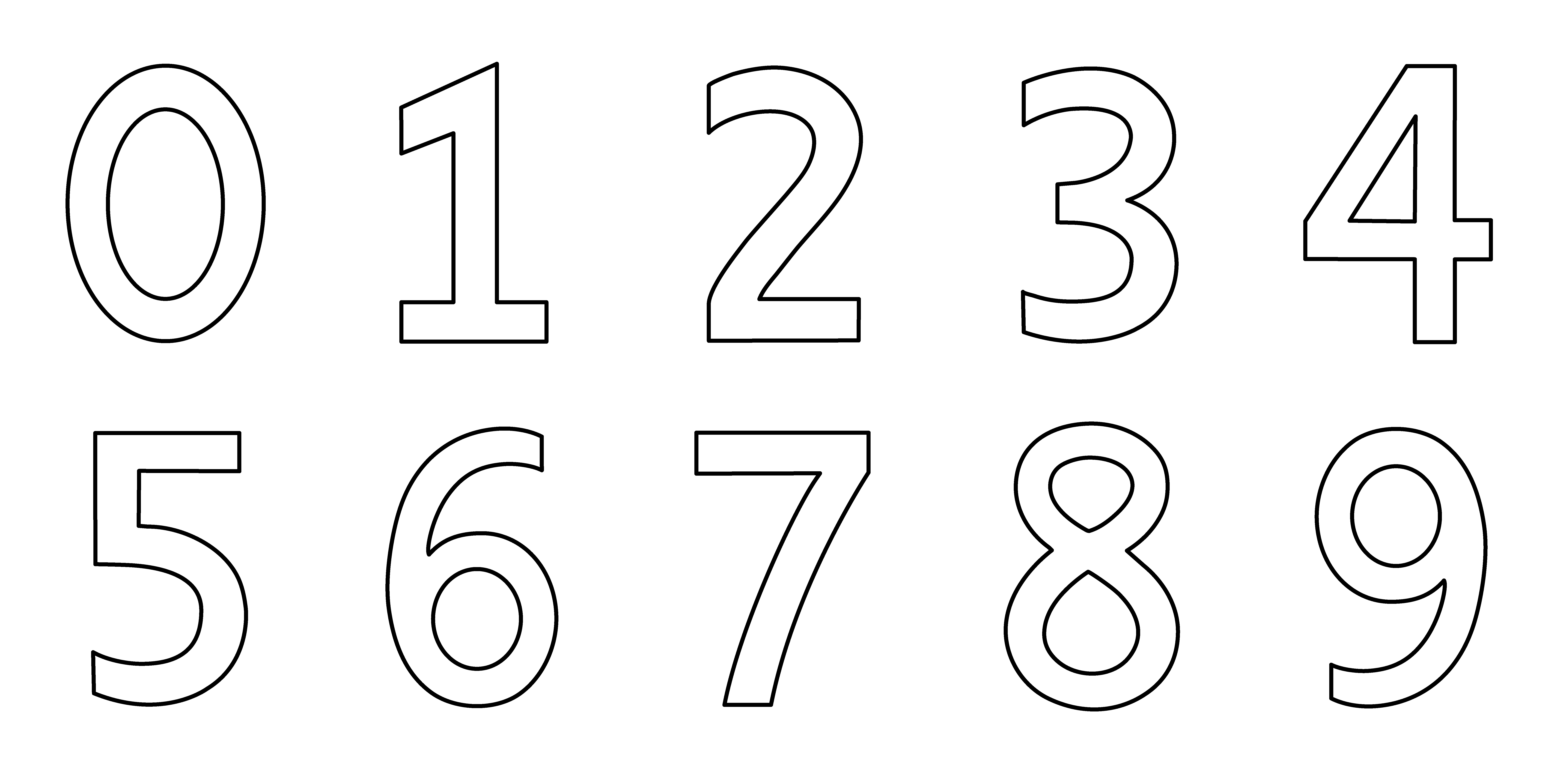 Numbers 1 10 clipart black and white jpg download Color By Numbers Free Printables. numbers 1 10 pumpkin coloring ... jpg download