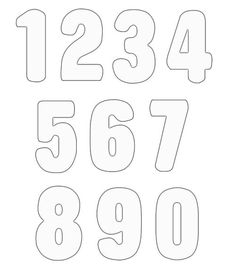 Numbers 1 10 clipart black and white svg black and white Numbers 1 To 10 Clipart Black And White - clipartsgram.com svg black and white
