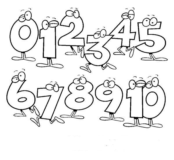 Numbers 1 10 clipart black and white clip library library Monster numbers clipart black and white 10 - ClipartFest clip library library