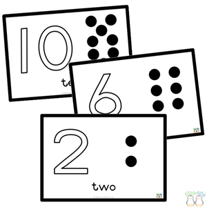 Numbers 1 10 clipart black and white jpg freeuse library LittleOne Store-Pom-Pom Workbook - Numbers 1-10 - Black and White jpg freeuse library