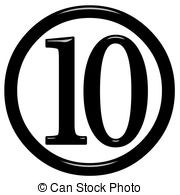 Numbers 1 10 clipart black and white graphic Number 10 Illustrations and Clipart. 9,881 Number 10 royalty free ... graphic