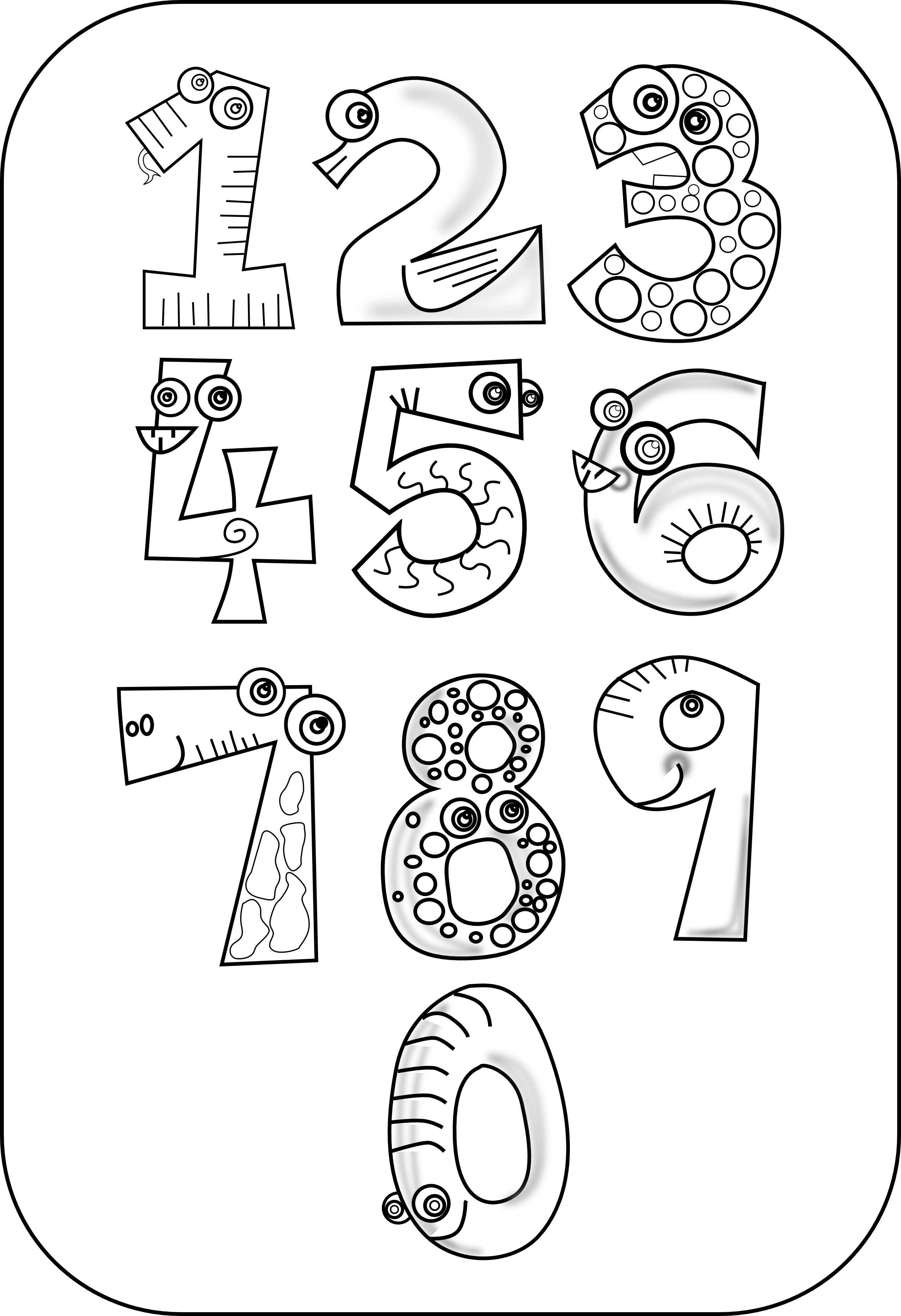 Numbers 1 10 clipart black and white graphic royalty free download Gallery For > Black and White Clipart Numbers 1 10 graphic royalty free download