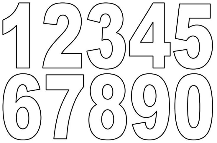 Numbers 1 10 clipart black and white free stock Numbers 1 to 10 clipart black and white - ClipartFest free stock