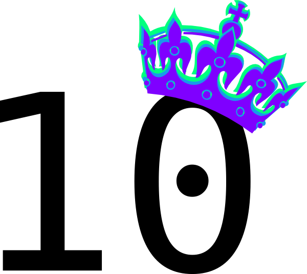 Numbers clipart 1 10 clipart free download Pink Tilted Tiara And Number 10 Clip Art at Clker.com - vector clip ... clipart free download