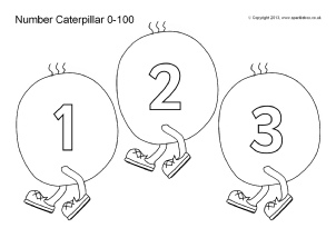 Numbers 1 to 10 clipart black and white jpg download Printable Number Tracks for Early Years and Key Stage One - SparkleBox jpg download