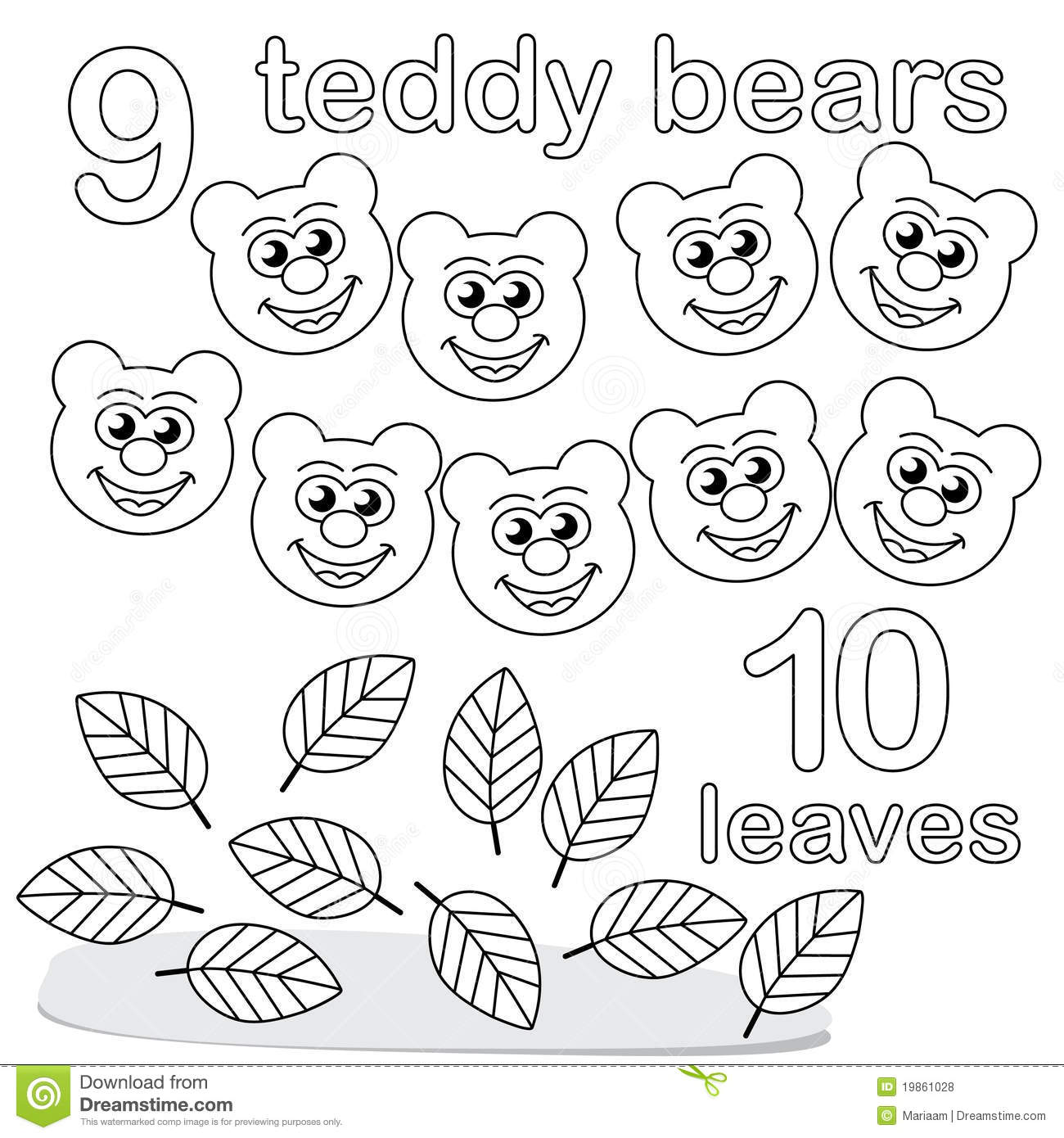 Numbers 1 to 10 clipart black and white vector download Counting Game With Number 9 & 10 Royalty Free Stock Photos - Image ... vector download