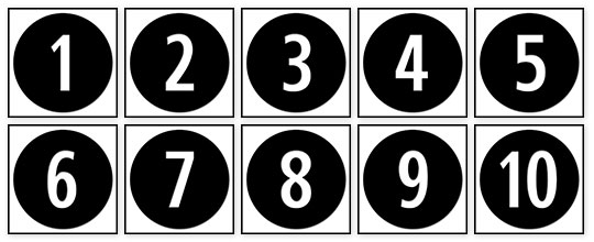 Numbers 1 to 10 clipart black and white png royalty free Download Number Graphics | Marching Orders App png royalty free