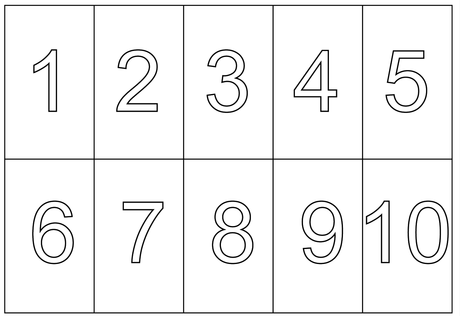 Numbers 1 to 10 clipart black and white svg download 1 to 10 Numbers PNG Transparent Images | PNG All svg download