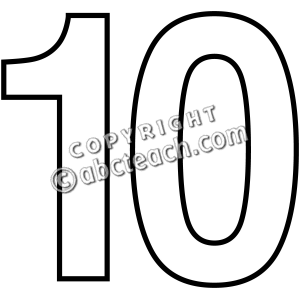 Numbers 1 to 10 clipart black and white clip art black and white download Numbers 1 To 10 Clipart Black And White - clipartsgram.com clip art black and white download