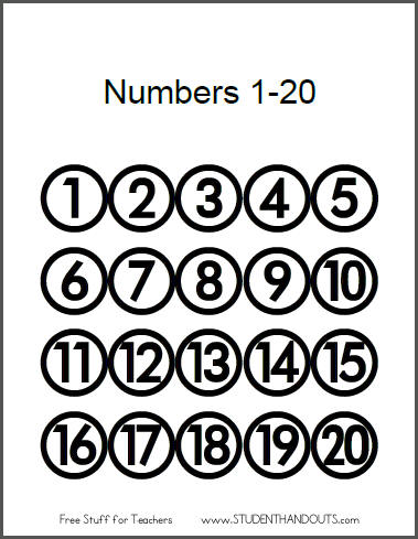 Numbers clipart 1 20 image library stock Clipart black and white number 20 - ClipartFest image library stock