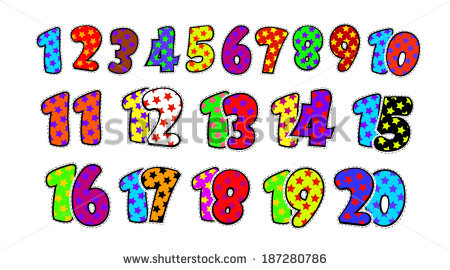 Numbers clipart 1 20 graphic freeuse stock Kids Fun Numbers 1 20 Stock Vector 163379765 - Shutterstock graphic freeuse stock