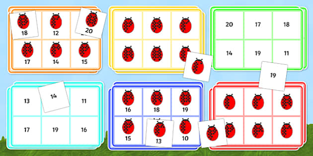 Numbers clipart 11 20 jpg free stock Ladybird Bingo (10-20) - Minibeasts - Ladybird, bingo, number jpg free stock