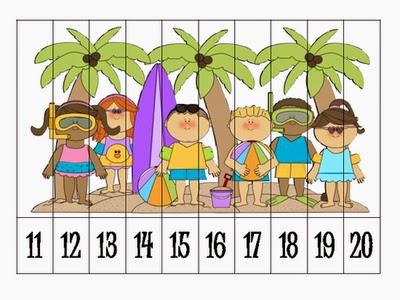 Numbers clipart 11 20 png stock Teacher Tam's Educational Adventures: Number Puzzles FREEBIES for ... png stock