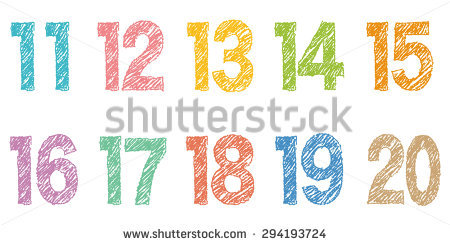 Numbers clipart 11 20 banner transparent Number 11 Stock Images, Royalty-Free Images & Vectors | Shutterstock banner transparent