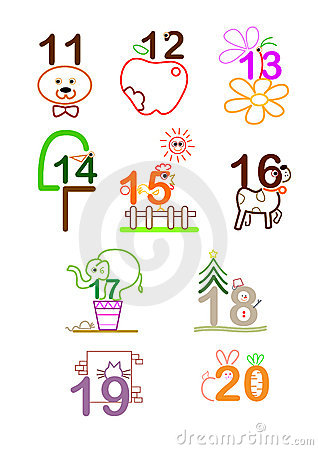 Numbers clipart 11 20 clip art free Number 11 - 20 Royalty Free Stock Photos - Image: 22036498 clip art free