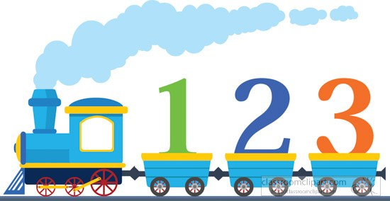 Numbers clipart 123 image library download Train loaded with 1 2 3 numbers clipart » Clipart Portal image library download
