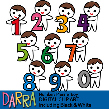 Numbers clipart pack freeuse Numbers clipart (boys with numbers clip art) freeuse