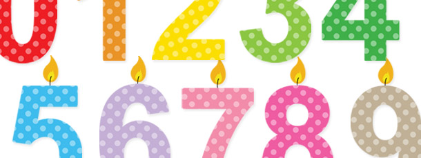Numbers clipart pack freeuse Birthday Candle Numbers Clipart Pack freeuse