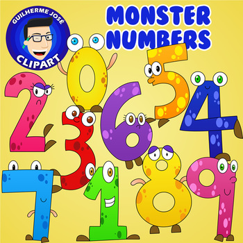 Numers clipart svg transparent Monster Numbers Clipart svg transparent