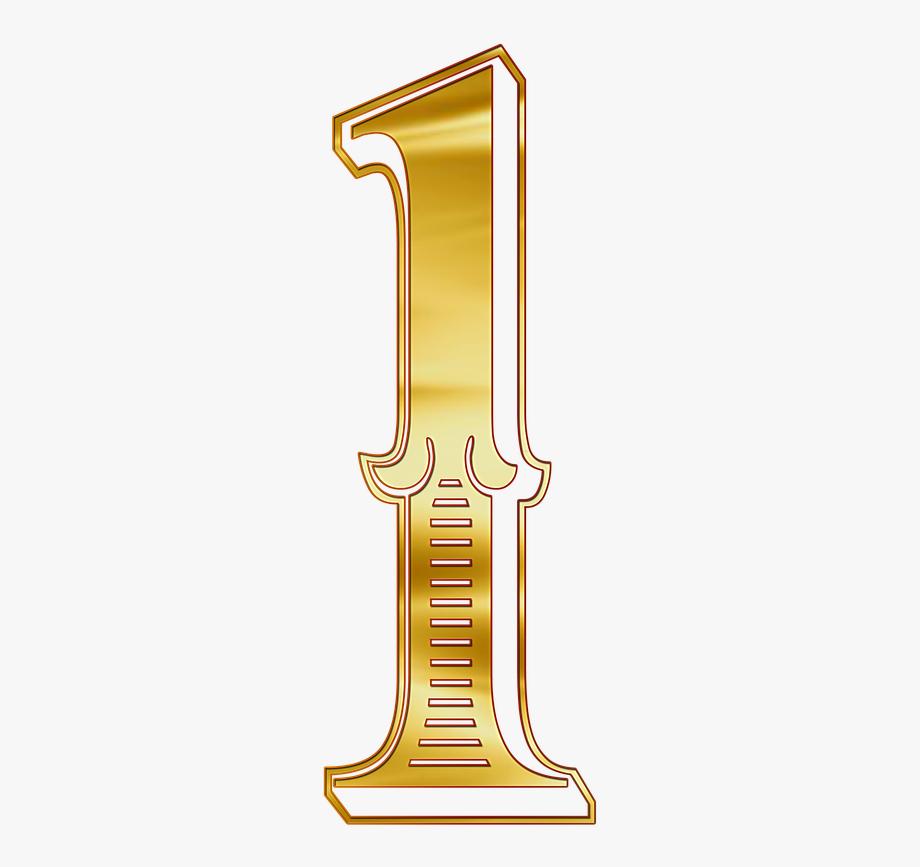 Numero 1 clipart clip free stock How To Get The - Numero 1 Dorado Png #1641907 - Free ... clip free stock