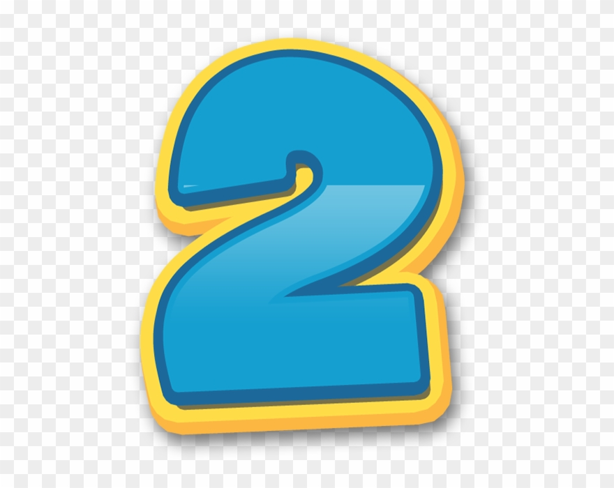 Numero 2 clipart graphic free library Numeros Patrulha Canina Numbers - Paw Patrol 2 Png Clipart ... graphic free library