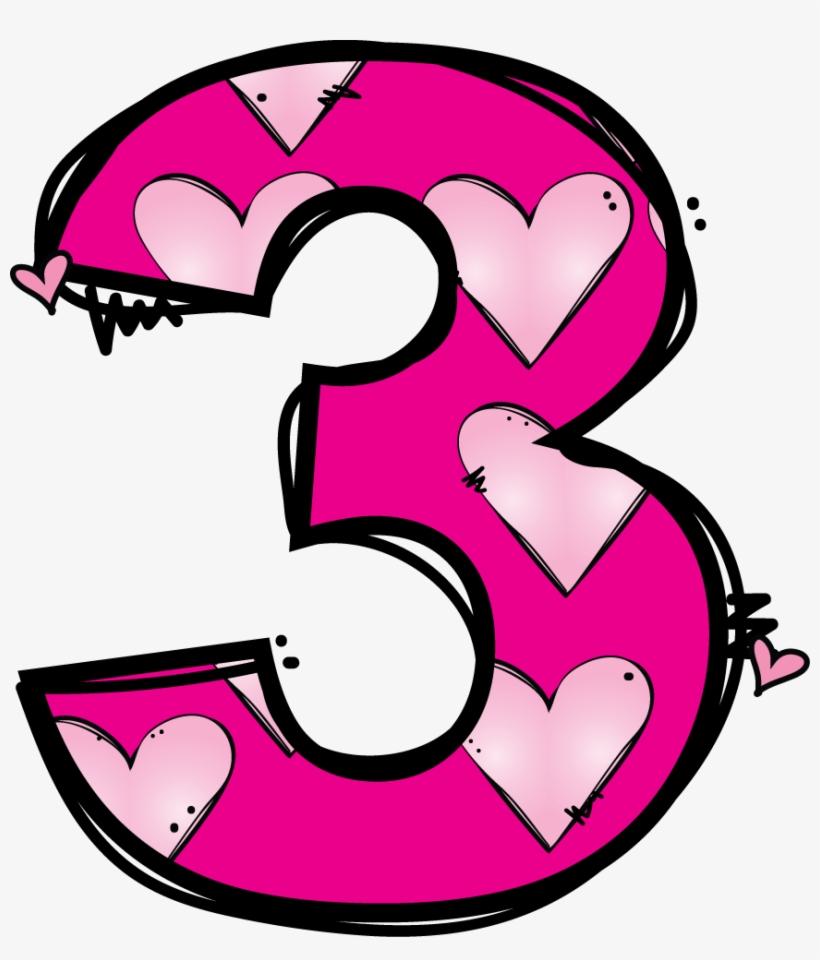 Numeros clipart jpg freeuse stock Numeros Matematik Pinterest Number Clip Art - Cute Number 3 ... jpg freeuse stock