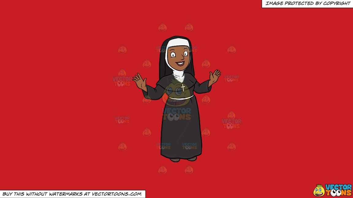 Nun taking a snapshot of the cross cliparts images jpg royalty free stock Clipart: A Happy Black Nun Greeting Everyone A Warm Welcome on a Solid Fire  Engine Red C81D25 Background jpg royalty free stock