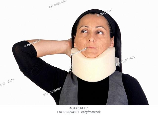 Nun with neck brace clipart clipart royalty free download Unhappy woman neck brace Stock Photos and Images | age fotostock clipart royalty free download