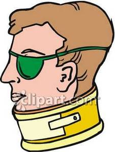 Nun with neck brace clipart clipart Man Wearing an Eye Patch and a Neck Brace - Royalty Free ... clipart
