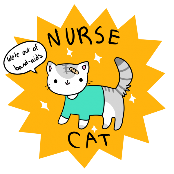 Nurse cat clipart