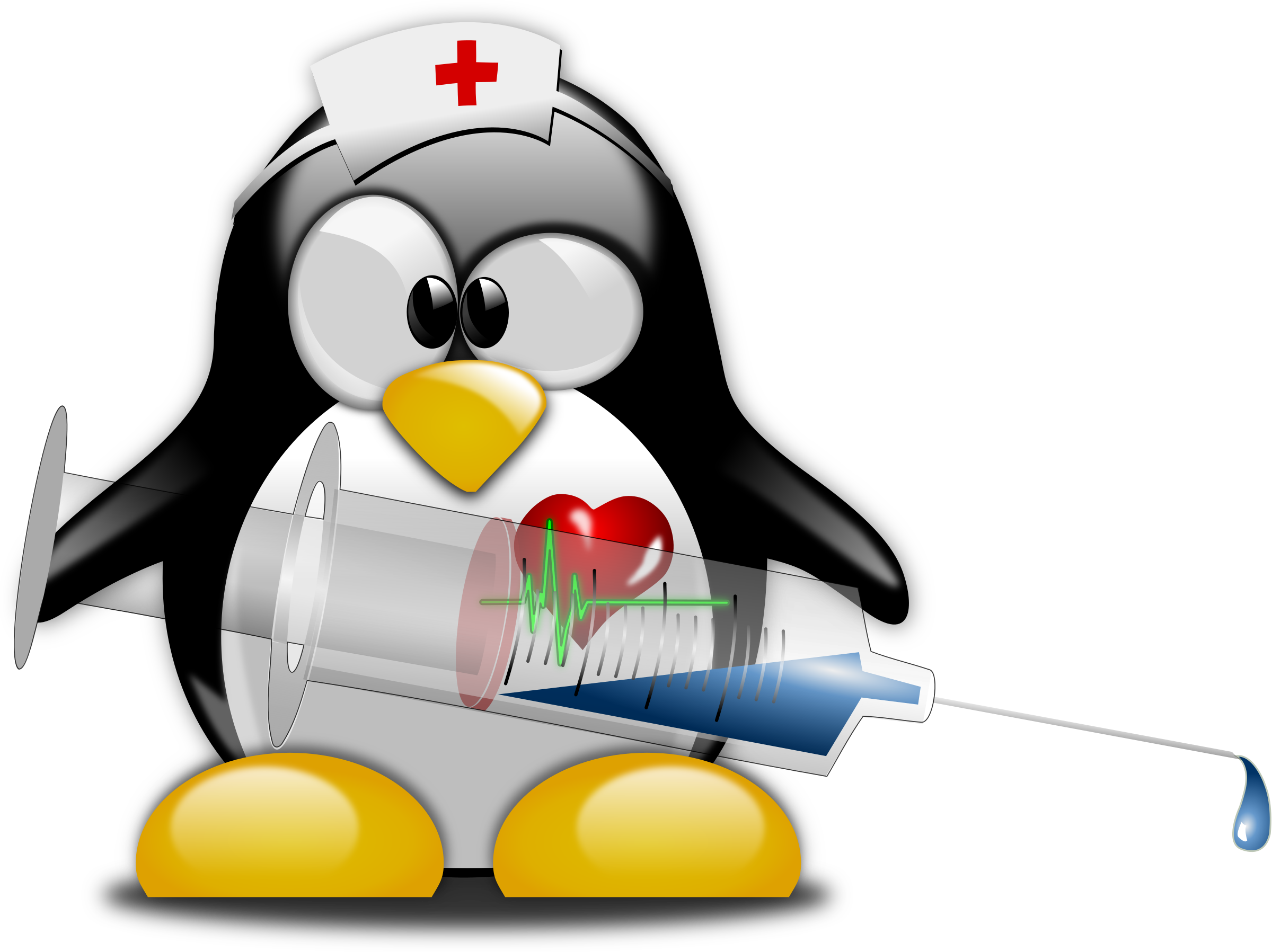 Nurse cross clipart banner black and white download Clipart - Tux Nurse 1 banner black and white download