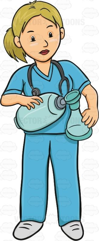 Nurse with blue scrubs and steschope clipart png freeuse Female Nurse Is Standing While Holding A Ventilator #blonde ... png freeuse