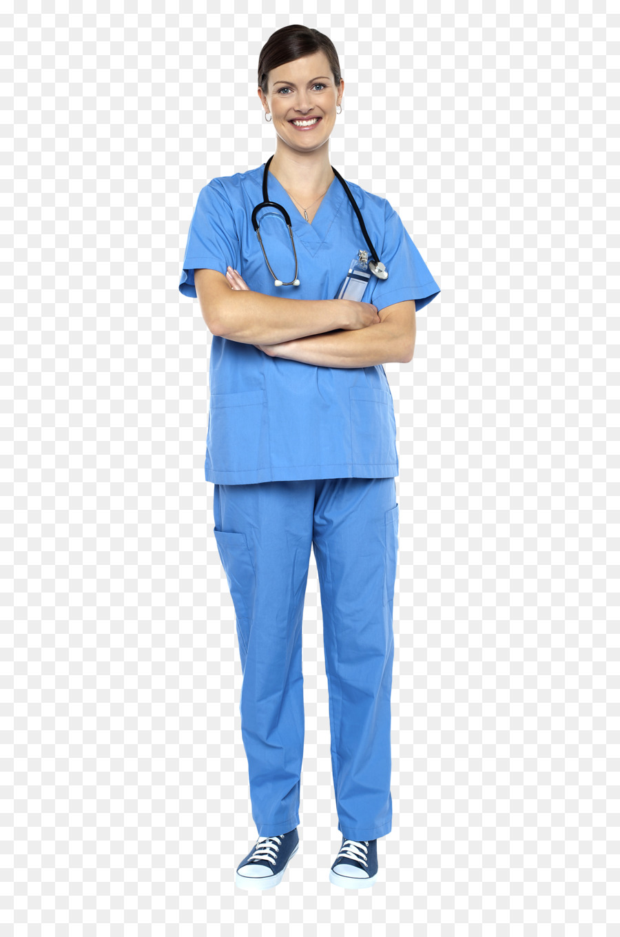 Nurse with blue scrubs and steschope clipart graphic freeuse stock Nurse Cartoon clipart - Clothing, Stethoscope, Uniform ... graphic freeuse stock