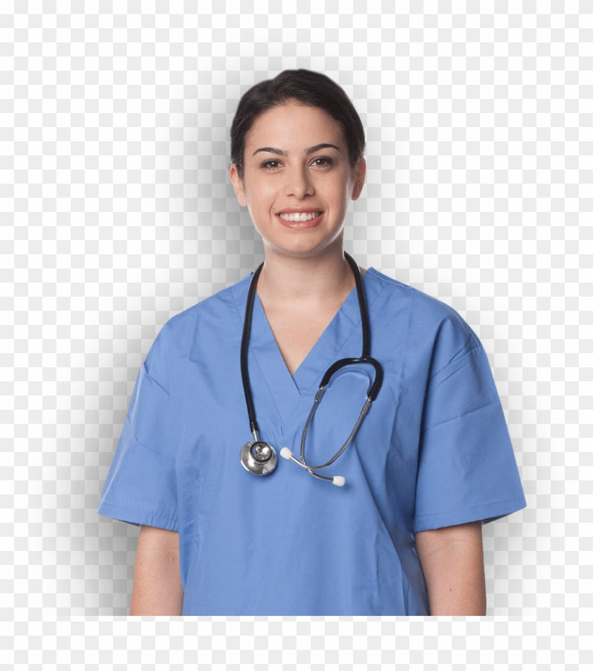 Nurse with blue scrubs and steschope clipart image transparent download Nursing Student In Scrubs With Stethoscope - Nursing Student ... image transparent download