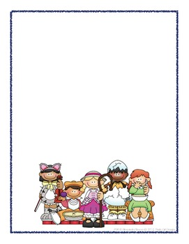 Nursery rhyme borders clipart png download Scrapbook - Yearbook Cover Page: Nursery Rhymes png download