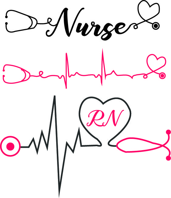 Nurses keep calm and breathe cliparts image library download Nurse with heartbeat and stethoscope svg nurse svg heartbeat ... image library download