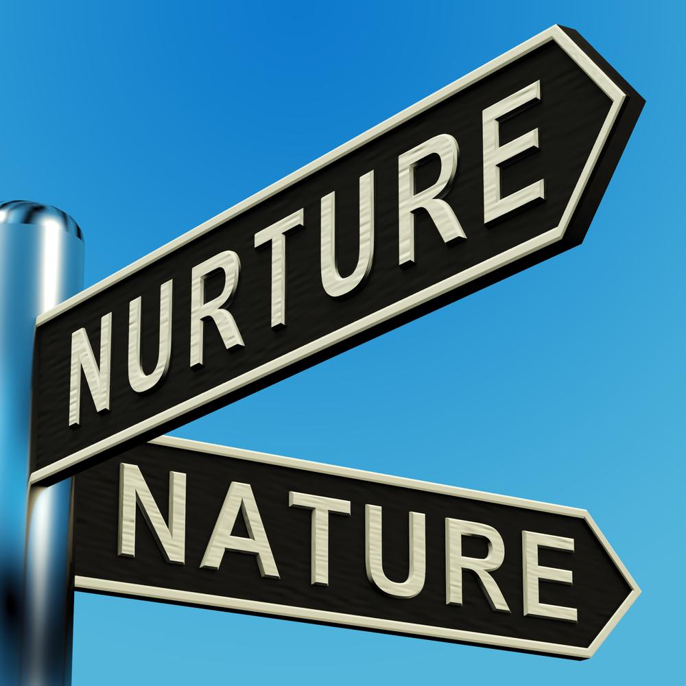 Nurture vs nature clipart