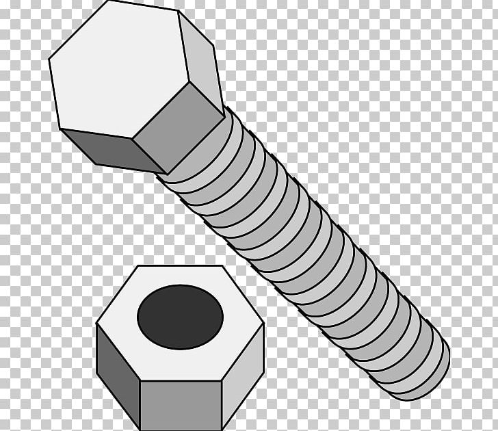 Nut bolt clipart clip art library download Screw Nut Bolt PNG, Clipart, Angle, Black And White, Bolt ... clip art library download