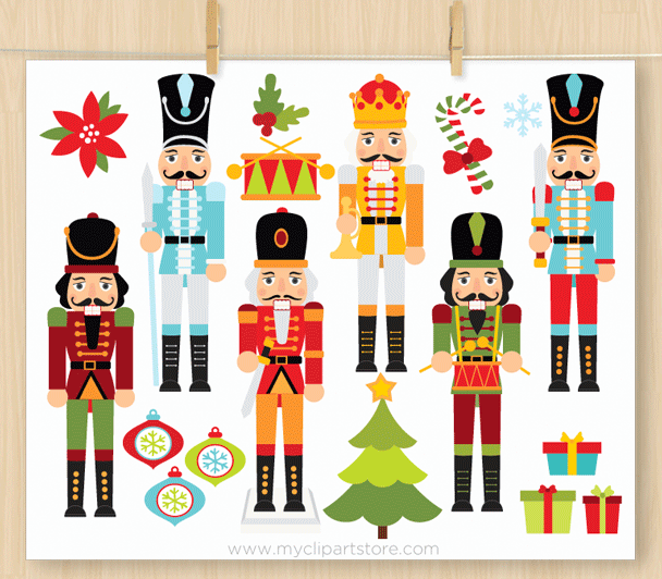 Nutcracker clipart vector black and white stock Christmas Nutcrackers Clipart vector black and white stock