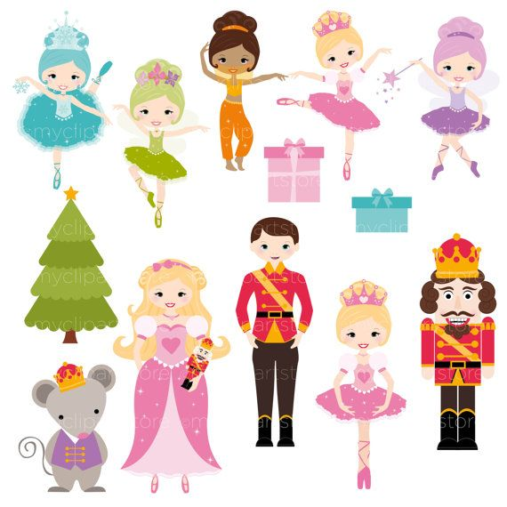 Nutcracker suite clipart banner free stock Digital Clipart Nutcracker Princess Clip Art / por ... banner free stock