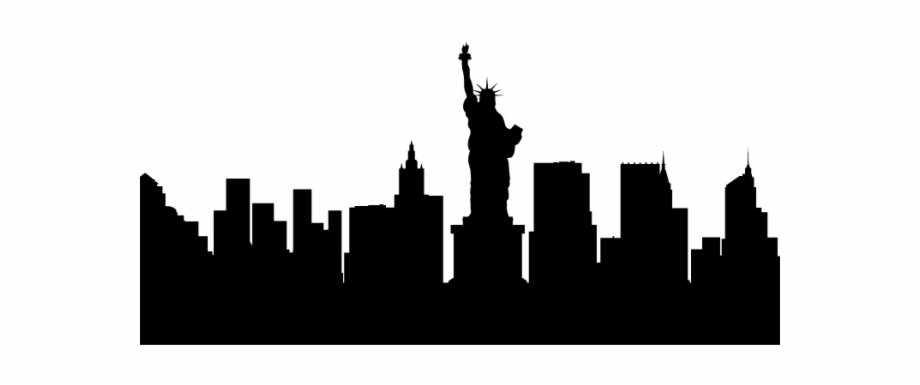Ny skyline clipart png freeuse Cityscape Clipart Building Shadow - Silhouette New York ... png freeuse