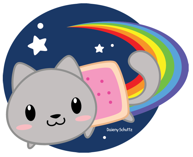 Nyan cat clipart clip art freeuse library Images of Chibi Anime Nyan Cat - #SpaceHero clip art freeuse library