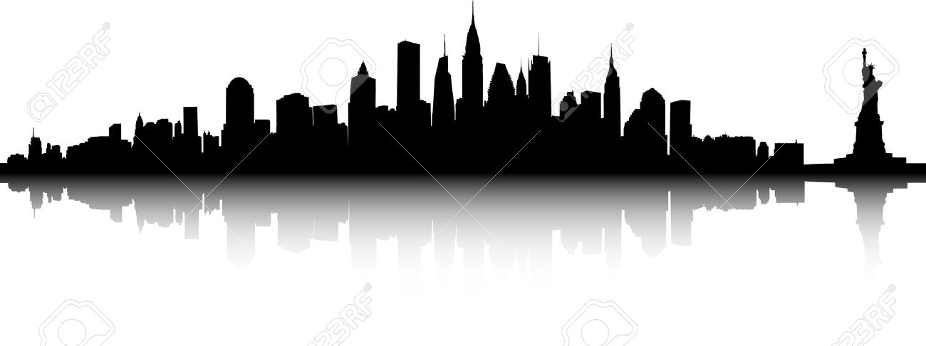Nyc skyline silhouette clipart black and white clip transparent library New York Skyline Silhouette Clipart | Free download best New ... clip transparent library