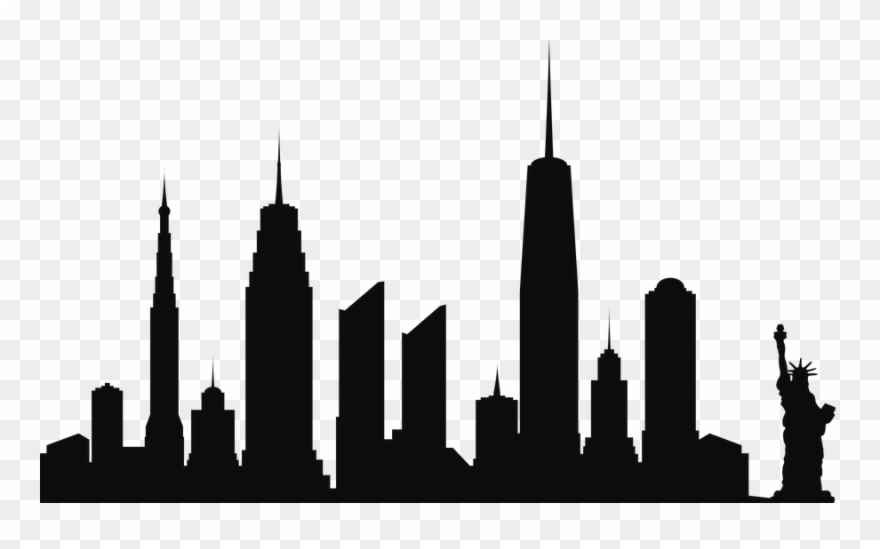 Nyc skyline silhouette clipart black and white banner Free Png New York City Skyline Silhouette Png Png Clipart ... banner